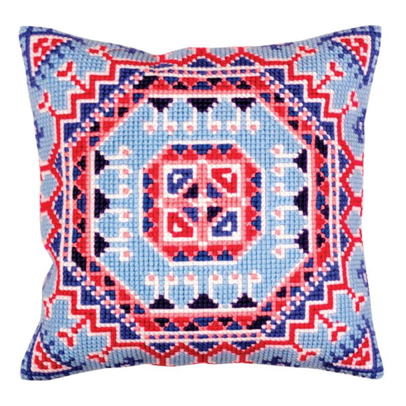 Persian Medallion Printed Cross Stitch Cushion Kit by Collection D'Art