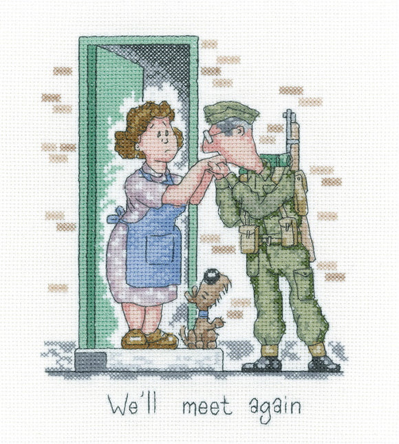 We'll Meet Again Cross Stitch Kit by Heritage Crafts