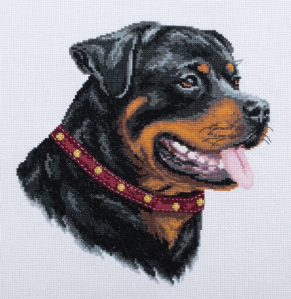 Rotweiler Cross Stitch Kit by PANNA
