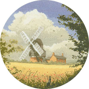 Corn Mill Cross Stitch Kit by Heritage Crafts