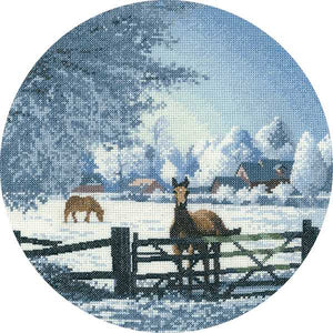 Hard Frost Cross Stitch Kit by Heritage Crafts