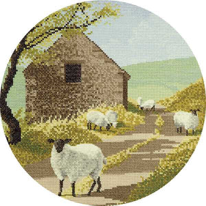 Sheep Track Cross Stitch Kit by Heritage Crafts