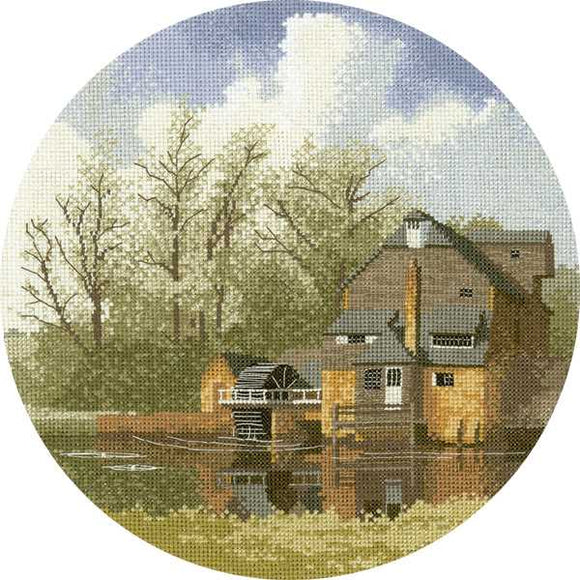 Water Mill Cross Stitch Kit by Heritage Crafts