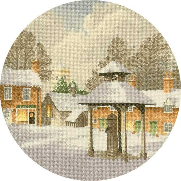Winter Village Cross Stitch Kit by Heritage Crafts
