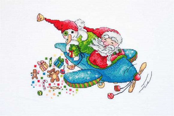 Christmas Flight Cross Stitch Kit by Merejka
