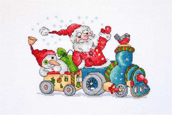 Christmas Travel Cross Stitch Kit by Merejka