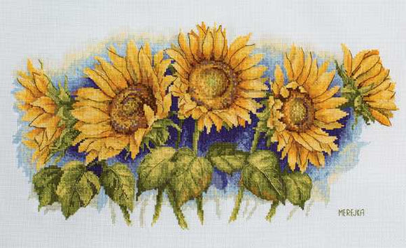 Bright Sunflowers Cross Stitch Kit by Merejka