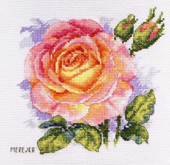 Rose Cross Stitch Kit by Merejka