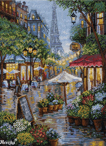 Rainy Paris Cross Stitch Kit by Merejka