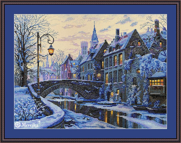 Winter Evening Cross Stitch Kit by Merejka