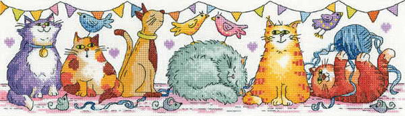 Cat Show Cross Stitch Kit by Heritage Crafts