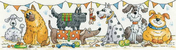 Dog Show Cross Stitch Kit by Heritage Crafts
