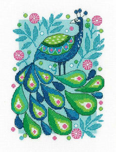 Peacock Cross Stitch Kit by Heritage Crafts