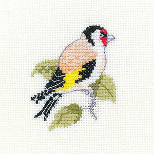 Goldfinch Cross Stitch Kit by Heritage Crafts