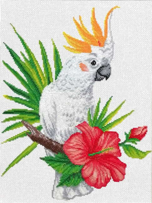 Cockatoo Call Printed Cross Stitch Kit by Needleart World