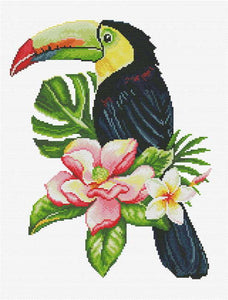 Toucan Look Out Printed Cross Stitch Kit by Needleart World