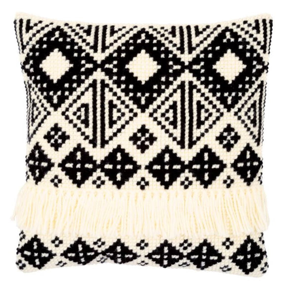 Ethnic Print Printed Cross Stitch Cushion Kit by Vervaco