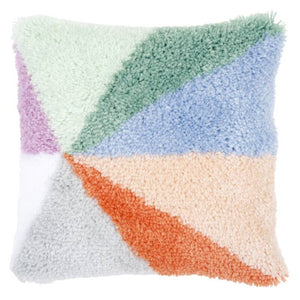 Palm Springs Sunburst Latch Hook Cushion Kit By Vervaco