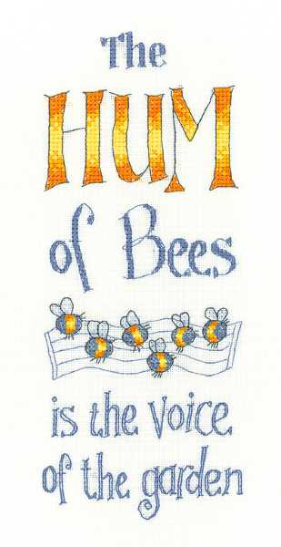 The Hum of Bees Cross Stitch Kit by Heritage Crafts