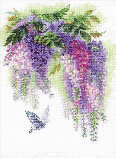 Wisteria Cross Stitch Kit By RIOLIS