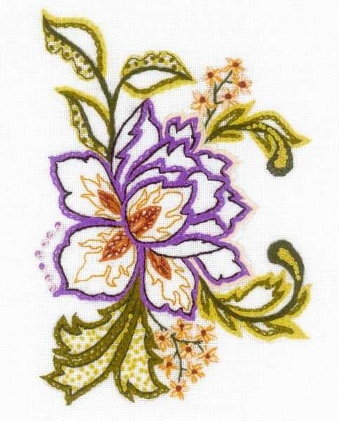 Flower Sketch Embroidery Kit By RIOLIS