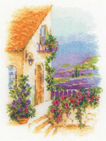 Provence Street Cross Stitch Kit By RIOLIS