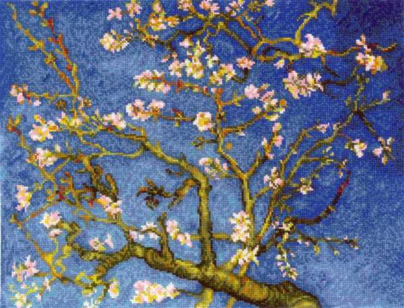 Almond Blossoms Cross Stitch Kit By RIOLIS