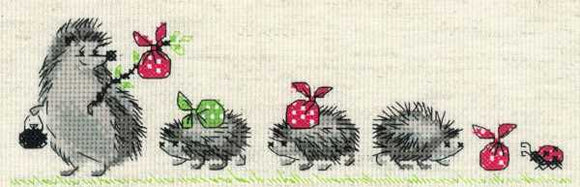 Hedgehogs Cross Stitch Kit By RIOLIS