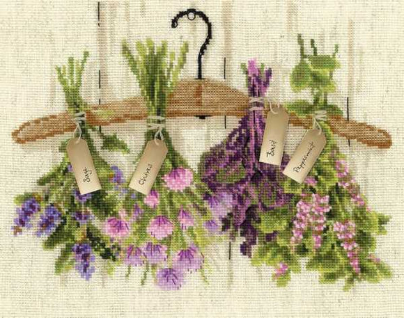 DIY Chart Counted Cross Stitch Patterns Needlework Meadow Flowers