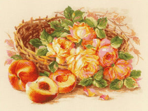 Juicy Peach Cross Stitch Kit By RIOLIS