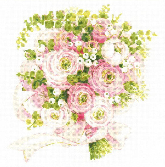 Wedding Bouquet Cross Stitch Kit By RIOLIS