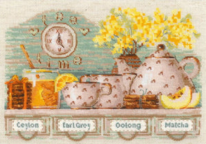 Tea Time Cross Stitch Kit By RIOLIS