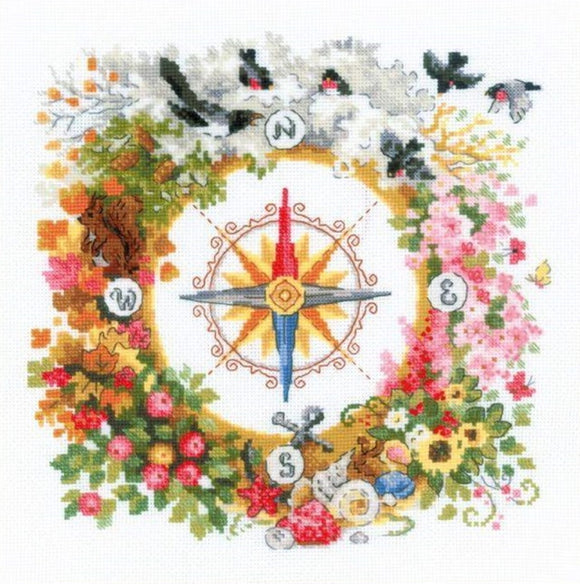 Compass Cross Stitch Kit By RIOLIS
