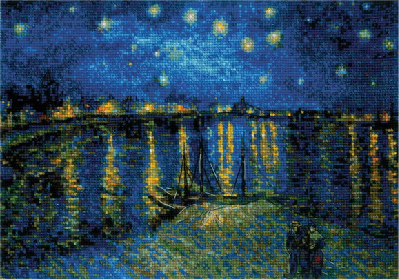 Starry Night Starry Night Over the Rhone Van Gogh Cross Stitch Kit By RIOLIS