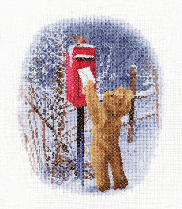 Christmas Post Cross Stitch Kit by Heritage Crafts