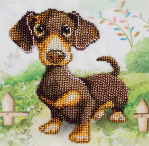 Dachshund Bead Embroidery Kit by VDV