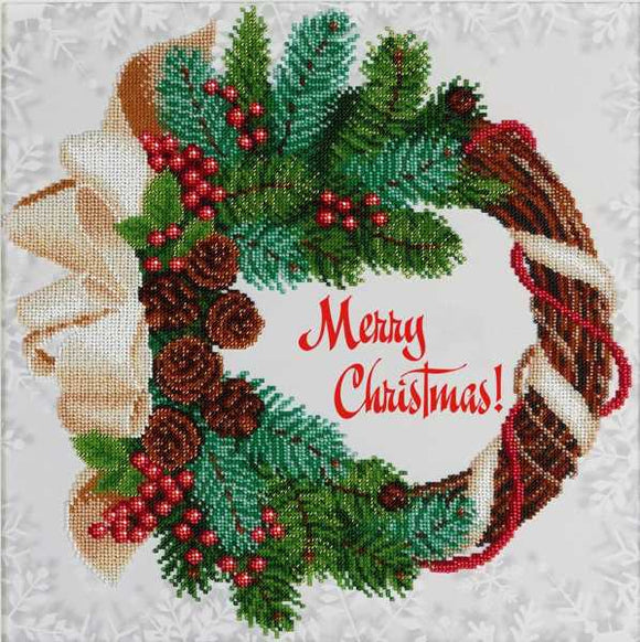 Merry Christmas Bead Embroidery Kit by VDV