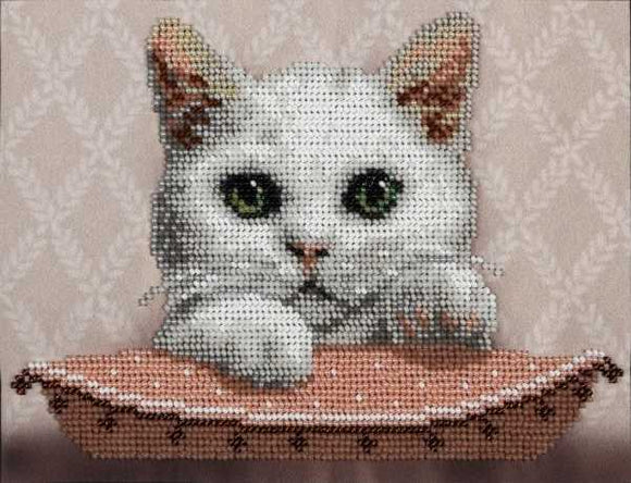 Masia the Lady Cat Bead Embroidery Kit by VDV
