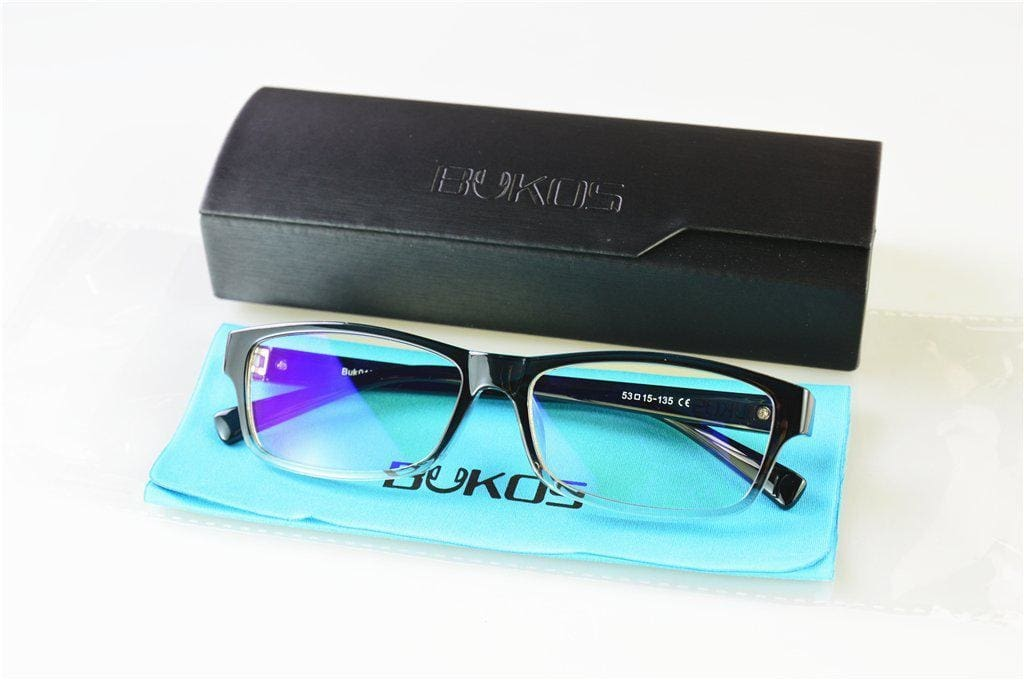 Computer Glasses - Blue Light Blocking Glasses | Black fading Clear - Men or Women - Gaming-Bukos Brands