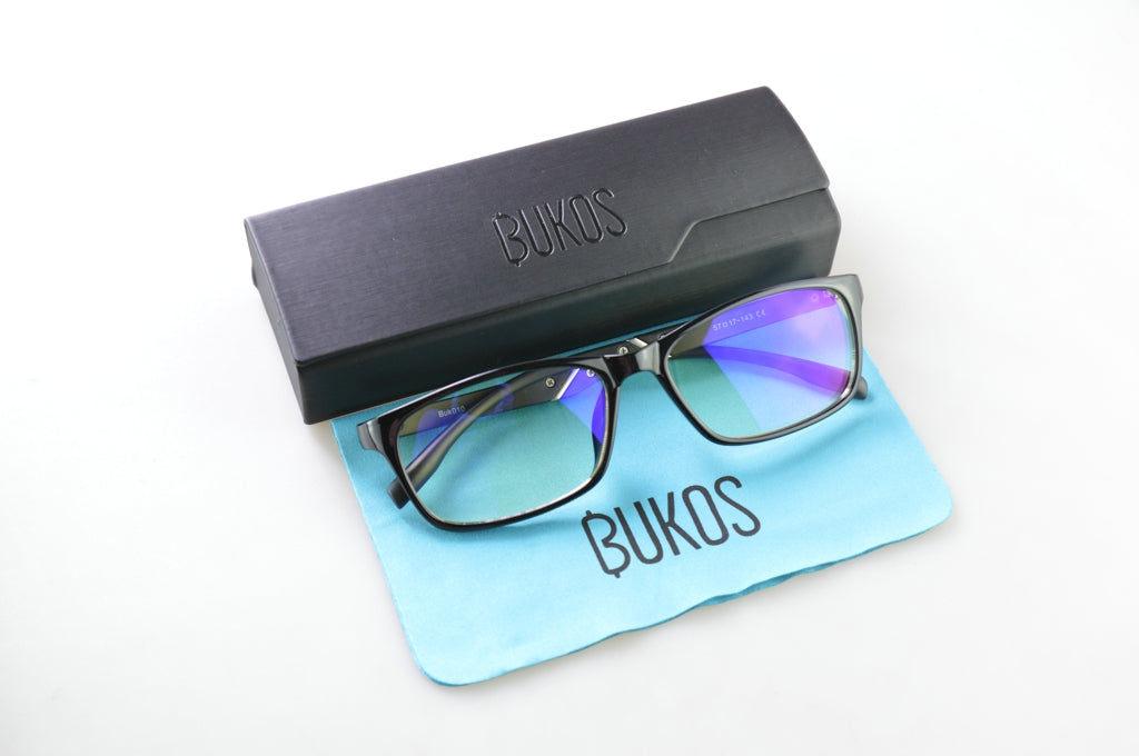 NEW MODEL! Bukos Blue Light Blocking Computer Glasses - Men, Women, Teens of all ages and head sizes | Sleep Better | All Day Use-Bukos Brands