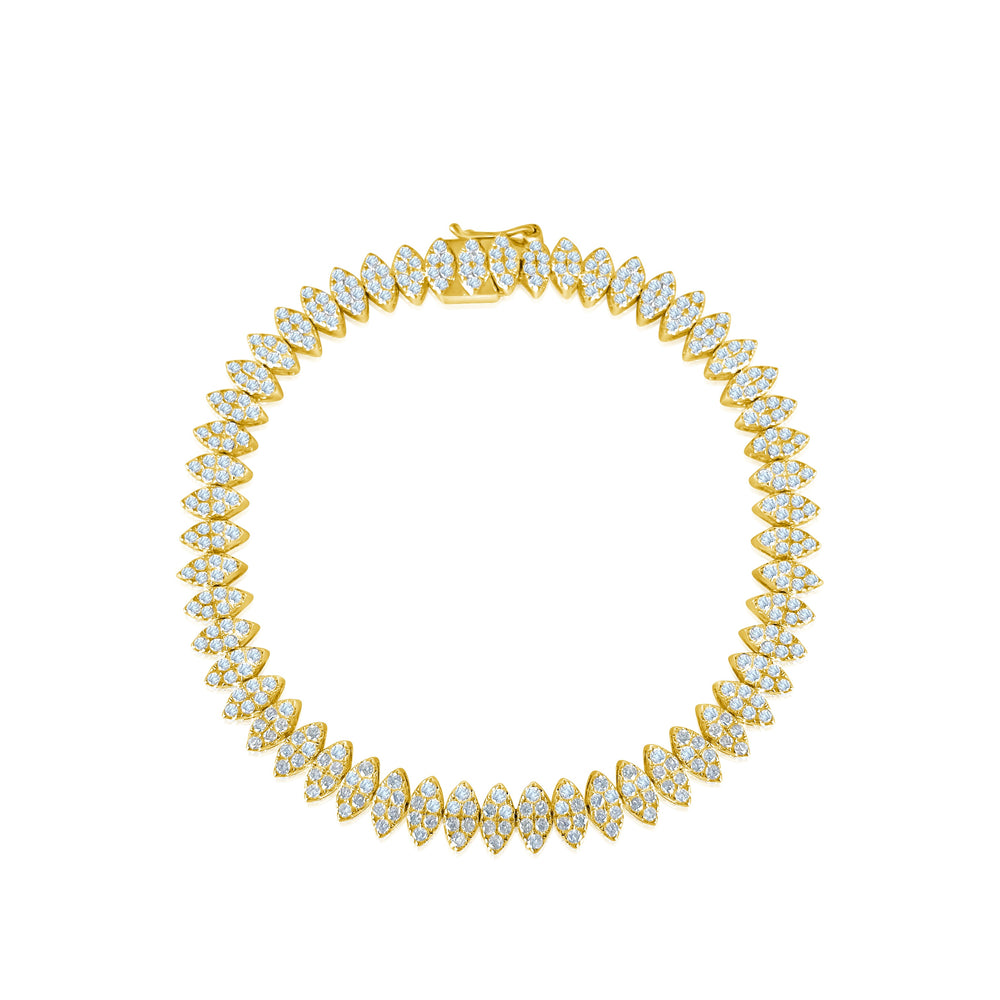 14KT Gold Diamond Mia Bracelet, Best Seller! / Back In Stock!!