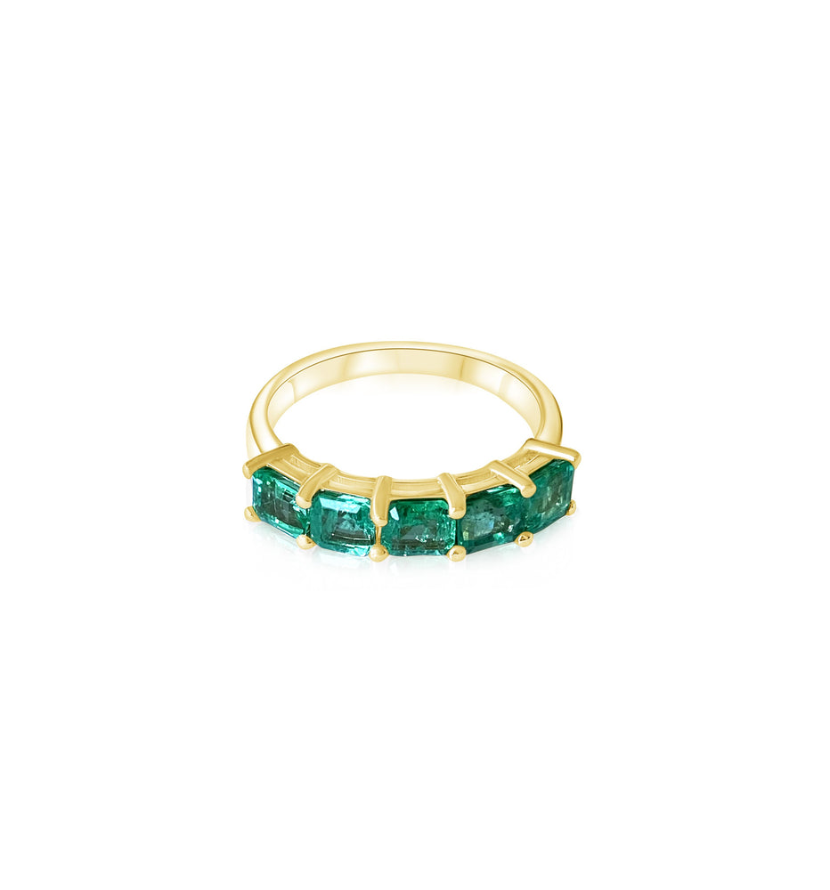 14KT Gold Emerald Eda Ring, NEW