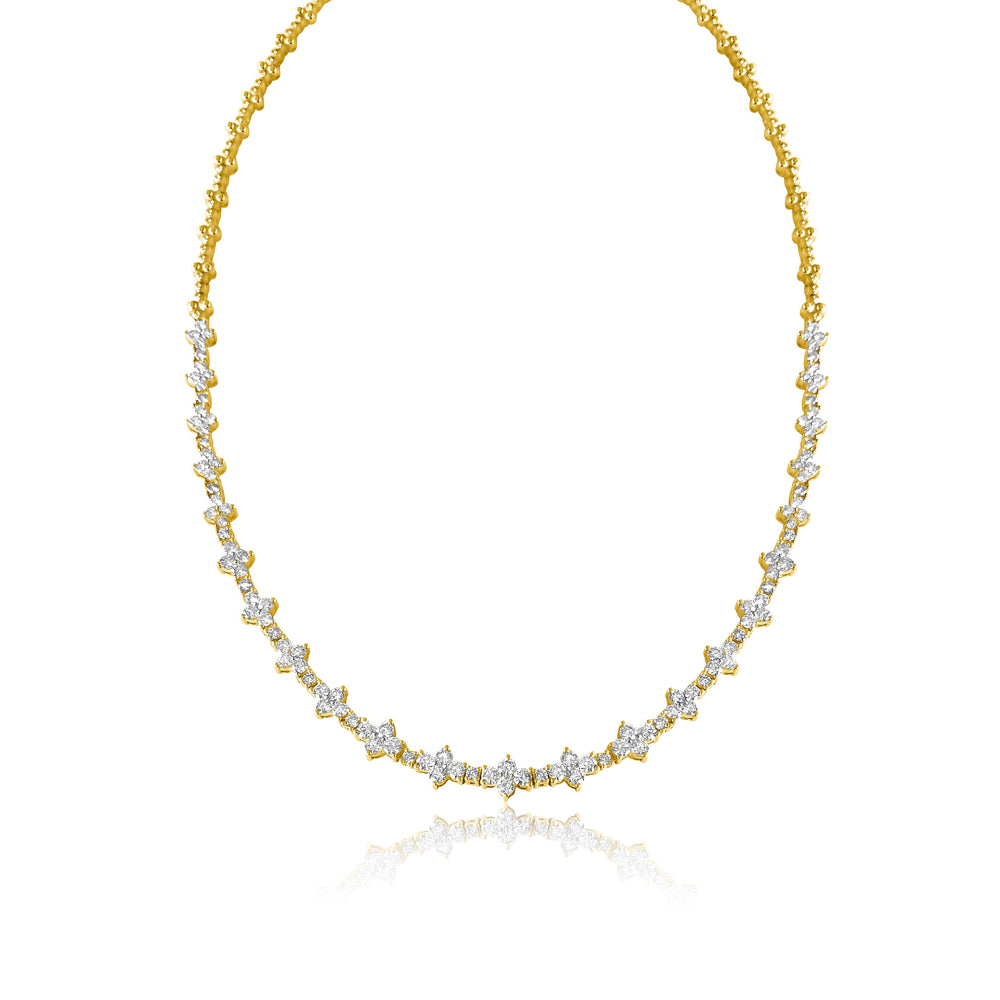 14KT Gold Diamond Charlotte Necklace, NEW