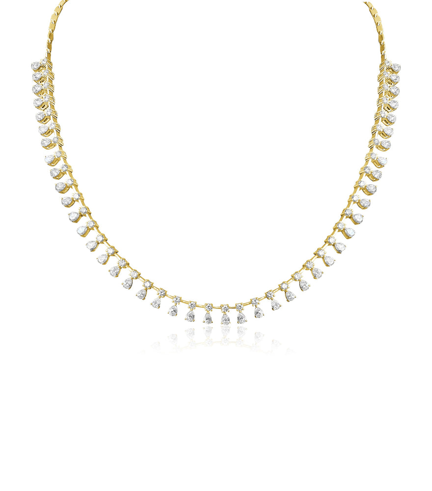 14KT Gold Diamond Stellar Luxe Necklace, NEW