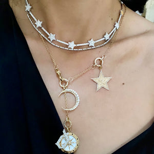 14KT Gold Diamond Luxe Star Necklace, NEW