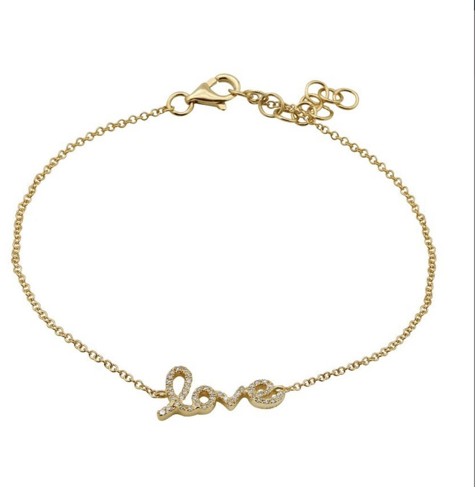 Load image into Gallery viewer, 14KT Gold Diamond Love Bracelet, NEW