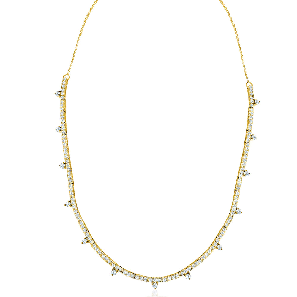 14KT Gold Diamond Annabella Tennis Necklace, NEW