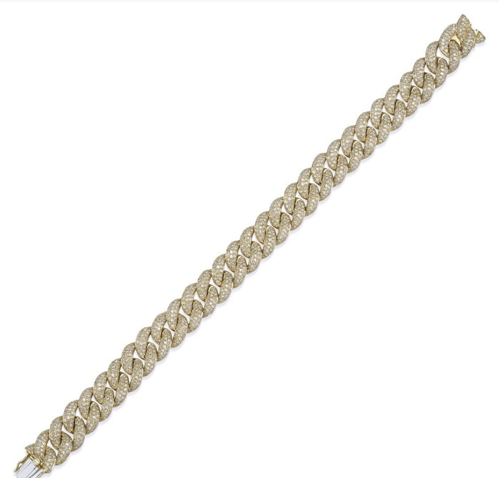 14KT Gold, LUXE Statement Diamond Link Bracelet, NEW