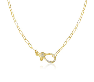 14KT Gold Isabelle Link Chain with Diamond Clasp, NEW, Best Seller!