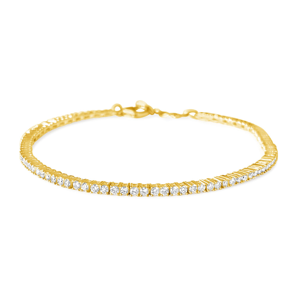 14KT Gold Diamond Julie Tennis Bracelet, NEW